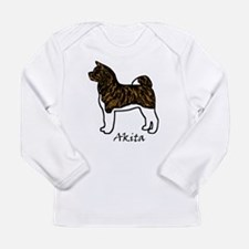 Red Brindle Self Mask Akita Long Sleeve T-Shirt