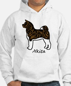 Red Brindle Self Mask Akita Hoodie
