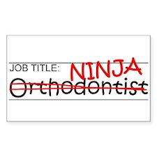 Job Ninja Orthodontist Decal