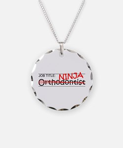 Job Ninja Orthodontist Necklace Circle Charm