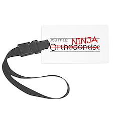 Job Ninja Orthodontist Luggage Tag