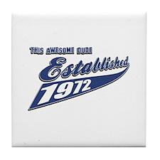 Established 1972 Tile Coaster