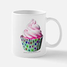 Pink Polka Dot Cupcake Mug