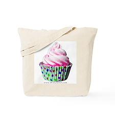 Pink Polka Dot Cupcake Tote Bag