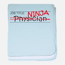 Job Ninja Physician baby blanket