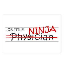 Job Ninja Physician Postcards (Package of 8)