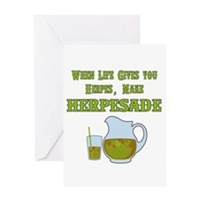 When Life Gives you Herpes Greeting Card