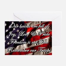 Remember the Troops Freedom Greeting Cards (6)