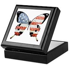 American Butterfly Keepsake Box