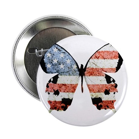"""American Butterfly 2.25"""" Button (100 pack)"""