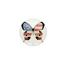 American Butterfly Mini Button (10 pack)