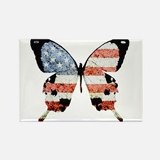 American Butterfly Rectangle Magnet (10 pack)