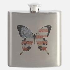 American Butterfly Flask