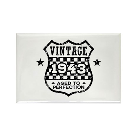Vintage 1943 Rectangle Magnet