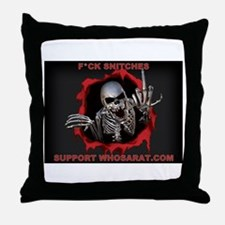Snitches red Throw Pillow