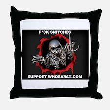 Snitche white Throw Pillow