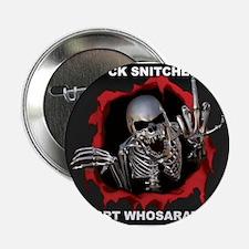 """Snitche white 2.25"""" Button"""