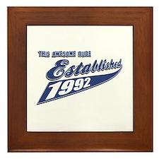 Established 1992 Framed Tile