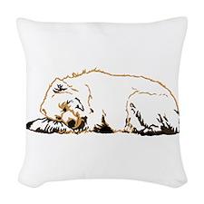 Bearly Sleeping Woven Throw Pillow