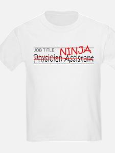 Job Ninja Physician Asst T-Shirt