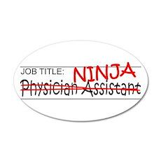 Job Ninja Physician Asst Wall Decal