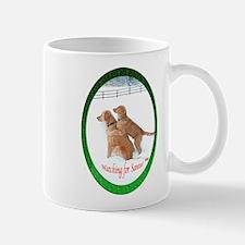 Santa Watching Golden Mug