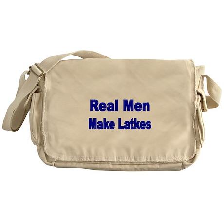 REAL MEN MAKE LATKES Messenger Bag