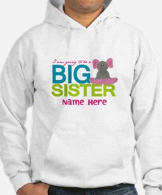 Personalized Elephant Big Sister Hoodie