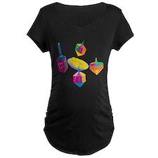 Hanukkah Design for Kids Maternity T-Shirt