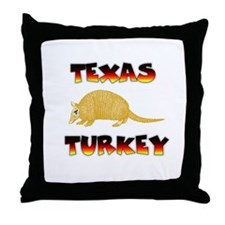 Texas Turkey Throw Pillow