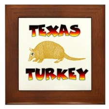 Texas Turkey Framed Tile