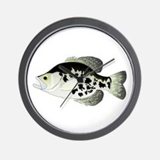 Black Crappie Sunfish fish Wall Clock
