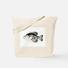 Black Crappie Sunfish fish Tote Bag