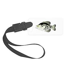 Black Crappie Sunfish fish Luggage Tag