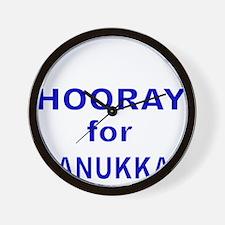 HOORAY FOR HANUKKAH Wall Clock