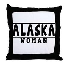 Alaska Woman Designs Throw Pillow