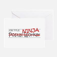 Job Ninja Postal Worker Greeting Card