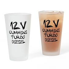 12 V Cummins Turbo Diesel Drinking Glass