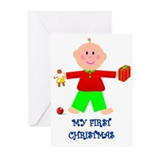MY FIRST CHRISTMAS GIRL Greeting Cards (Package of