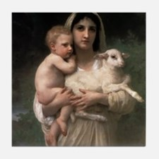 Innocence With Lamb Tile Coaster