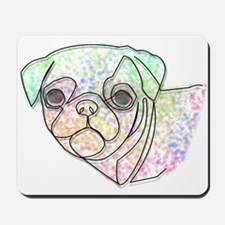 Wire Pug Mousepad