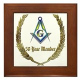 50 year award Framed Tiles