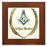 50 year award Framed Tiles