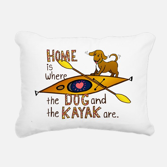 HOMEkayakDOG.png Rectangular Canvas Pillow