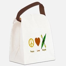 peacelovekayaknatural.png Canvas Lunch Bag