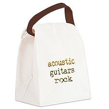 acousticguitarsrockedges.png Canvas Lunch Bag