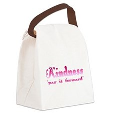 kindnesspinktrans.png Canvas Lunch Bag