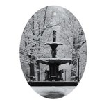 Madison's Broadway Fountain in the snow Ornament