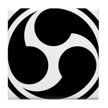 666 Triple Six (black) Tile Coaster