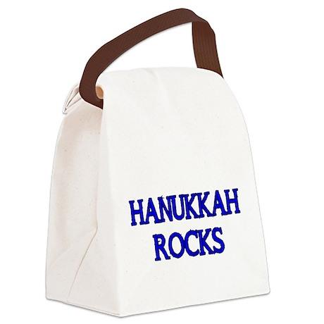HANUKKAH ROCKS Canvas Lunch Bag